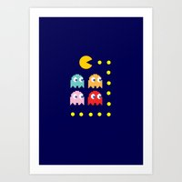 pacman Art Prints featuring Pacman by ARIS8