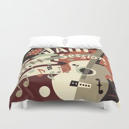 Guitar Music abstract Duvet Cover