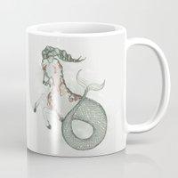 capricorn Mugs featuring Capricorn by Vibeke Koehler