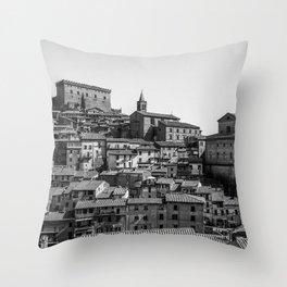 Soriano nel Cimino (Italy) - Orsini Castle Throw Pillow