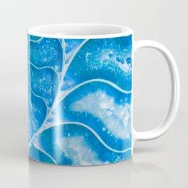 Blue colored Ammonite fossil Coffee Mug