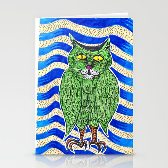 Catlearowl Stationery Cards