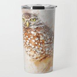 Bird animal owl art abstract Travel Mug