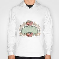 shabby chic Hoodies featuring Shabby Chic Carte Postale by Nika in Wonderland