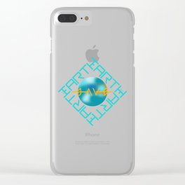 SAVE EARTH Clear iPhone Case