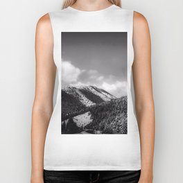 Big Sky Country - Black And White Biker Tank