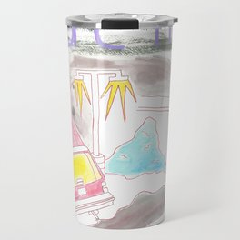 """Dealerships"" / Frontier Ruckus Song Illustrations, Series 1 (7/15) Travel Mug"