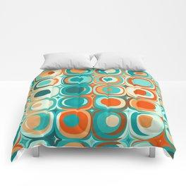 Orange and Turquoise Dots Comforters
