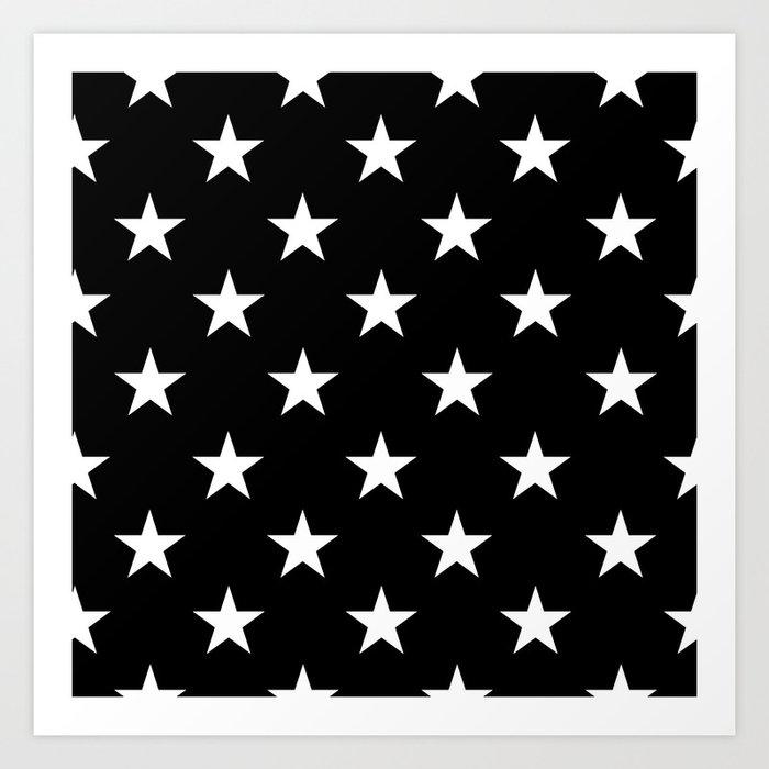 Stars (White/Black) Kunstdrucke
