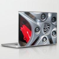 porsche Laptop & iPad Skins featuring Porsche Wheel by SShaw Photographic