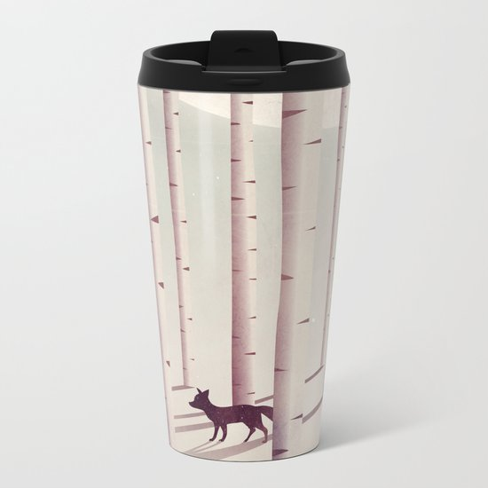 Serene Forest Metal Travel Mug