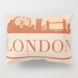 LONDON ENGLAND CITY SKYLINE EARTH TONES Pillow Sham
