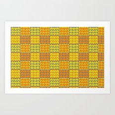 Hob Nob Orange Quarters Art Print