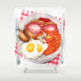 Full English Breakfast Shower Curtain
