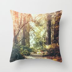 Beautiful California Redwoods Throw Pillow