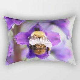 Bumble-bee and larkspur Rectangular Pillow