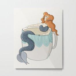Tea Mermaid Metal Print
