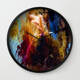 Dance with colors Wall Clock