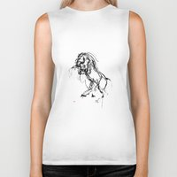 into the wild Biker Tanks featuring Horse (Wild) by Paper Horses