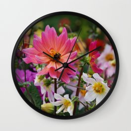 Flowering meadow Wall Clock