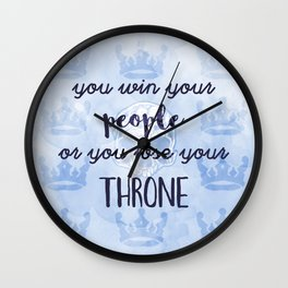 WIN YOUR PEOPLE Wall Clock