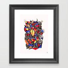 - romantic gate - Framed Art Print