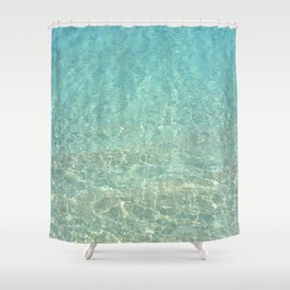 Colors of the Sea Water - Clear Turquoise Shower Curtain