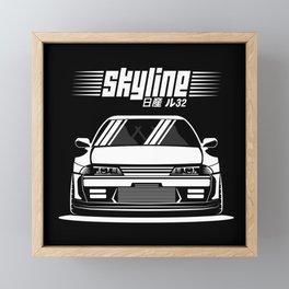 R32 GTR Framed Mini Art Print