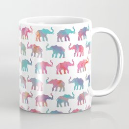Elephants on Parade in Watercolor Coffee Mug