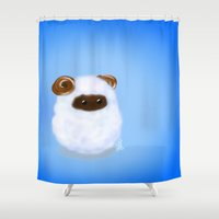sheep Shower Curtains featuring Sheep by quackso