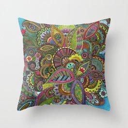 Evie's Garden Paisley Throw Pillow