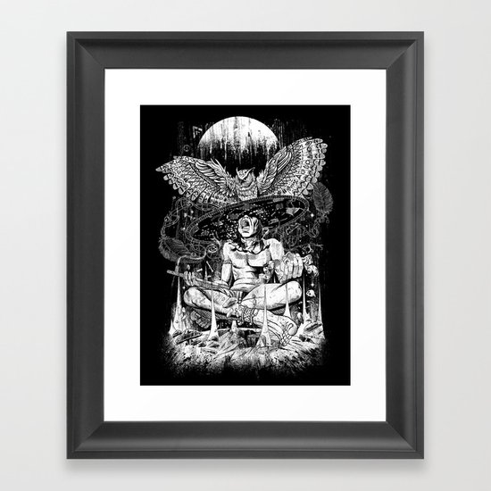 Spirit Owl Framed Art Print