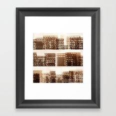 Skyline - Stacked Framed Art Print