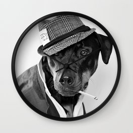 The Reporter - Rotweiler Dog Wall Clock