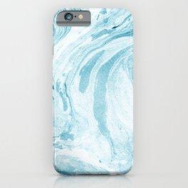 Ocean Blue Marble Print iPhone Case