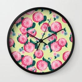 Spring Floral Dream #2 #decor #art #society6 Wall Clock