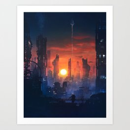 Barcelona Smoke & Neons: The End Art Print