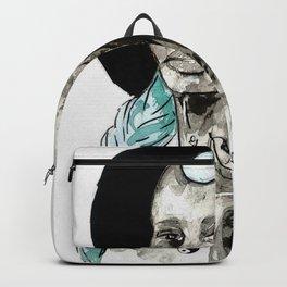 Femme à la crête bleue Backpack