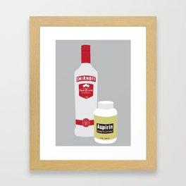 Vodka & Aspirin Framed Art Print