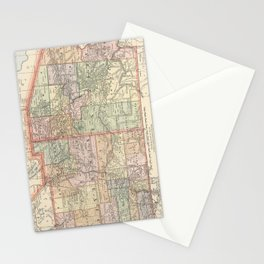Vintage Map of Arizona and New Mexico (1891) Stationery Cards