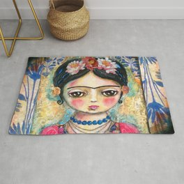 The heart of Frida Kahlo  Rug