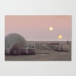 Twin Suns Dessert Canvas Print
