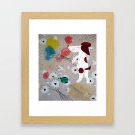 Dog flower Framed Art Print