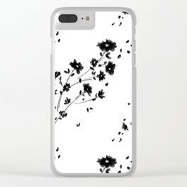 Large Daisy Design Clear iPhone Case