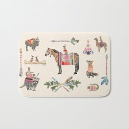 Horse with hare  Bath Mat