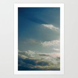 BREAKING OUT THE HEAVENS Art Print