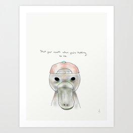 billy platypus Art Print