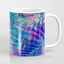 Colorful abstract palm leaves 2 Coffee Mug