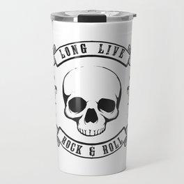 Rock n Roll Skull Tattoo Design Travel Mug