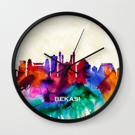 Bekasi Skyline Wall Clock